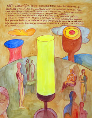 UDHR Article 2 painting