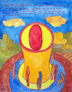 UDHR Article 7 painting