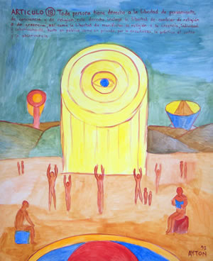 UDHR Article 18 painting
