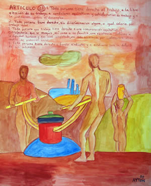 UDHR Article 23 painting