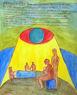 UDHR Article 25 painting