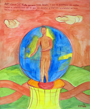 UDHR Article 28 painting
