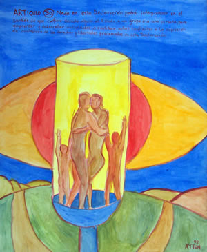 UDHR Article 30 painting